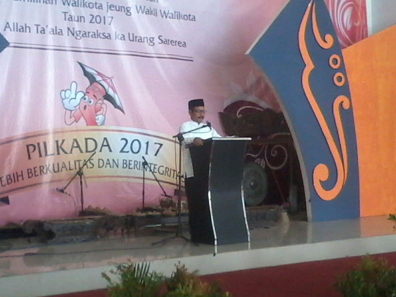 Dede sudrajat menghadiri launching Pemilu Kada