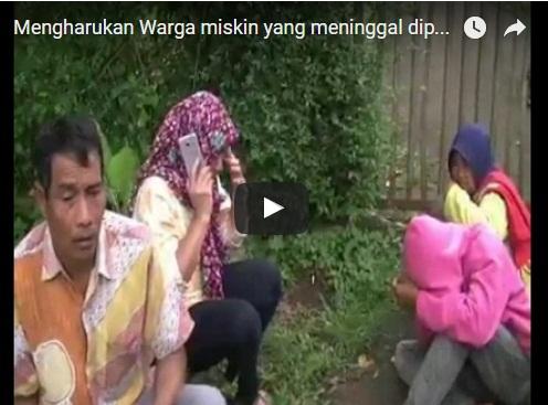 Mengharukan Warga miskin yang meninggal diperjalanan Menuju dr Soekardjo Tasikmalaya