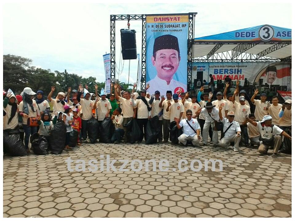 Usai Kampanye Dahsyat Lapang Dadaha Kembali Bersih