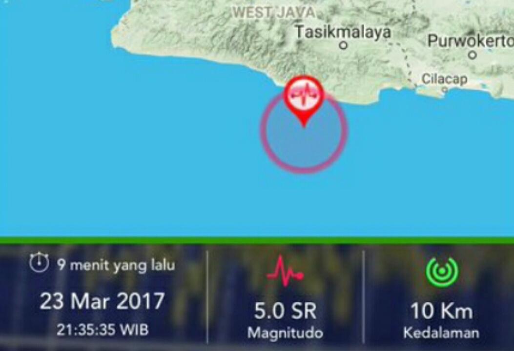 Gempa Tasikmalaya terjadi barusan