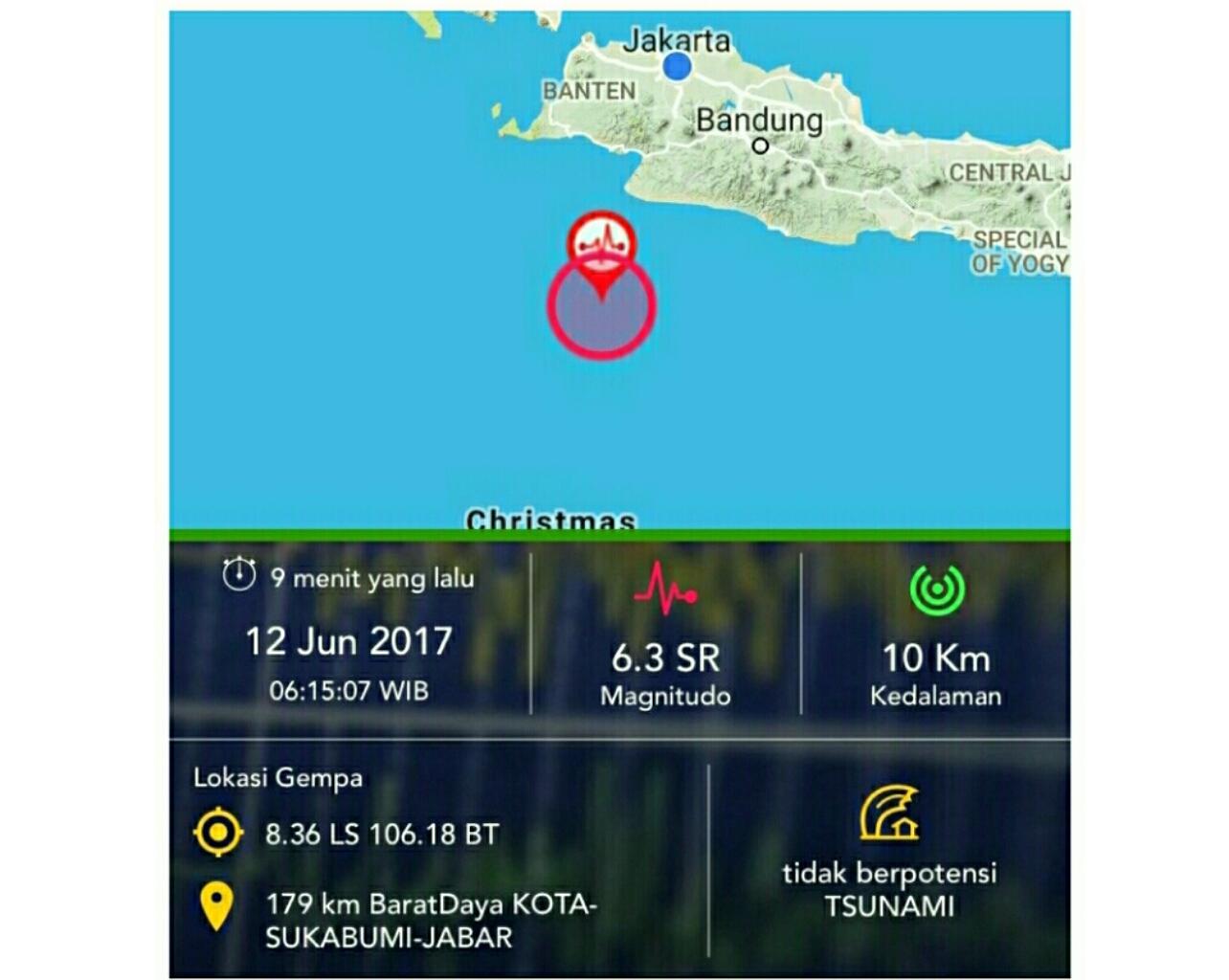 Gempa Sukabumi Terasa Sampai Tasikmalaya