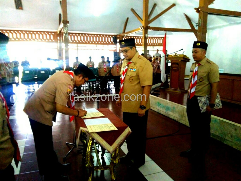 Kwartir Daerah Jabar Melantik Wakil Bupati Tasik Sebagai Unsur Mabicab