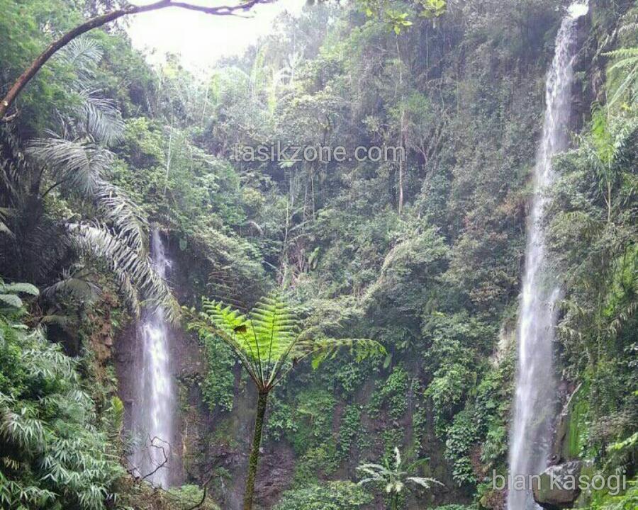 Curug Badak Batu Hanoman Wisata Alam Tasikmalaya