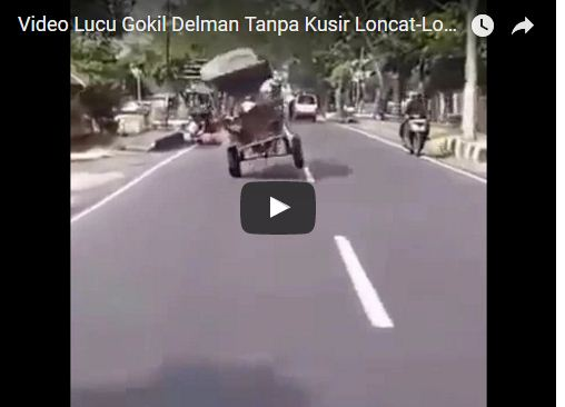 Video Lucu Delman Loncat-Loncat