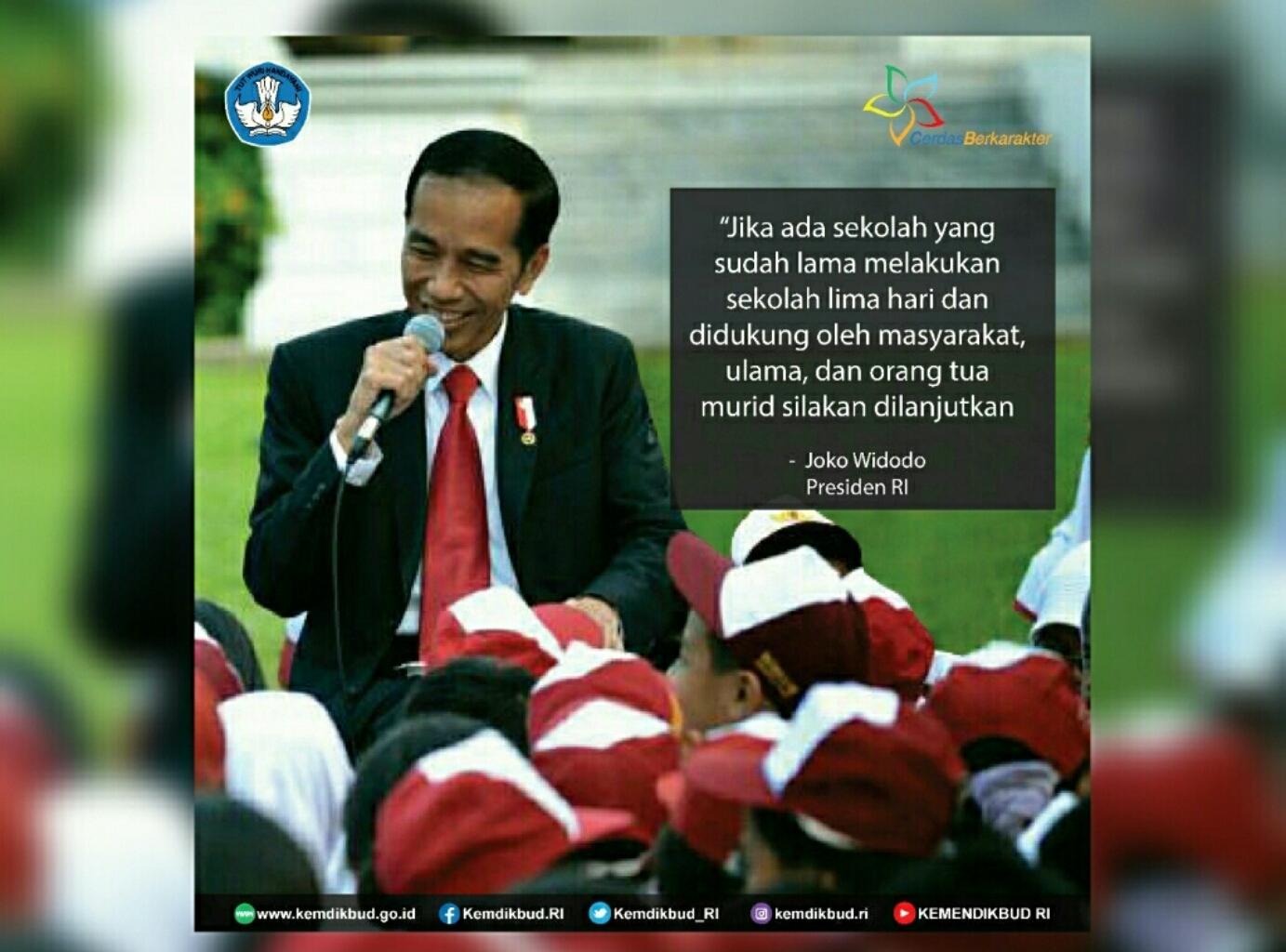 Begini Jawaban Jokowi Tentang Full Day School