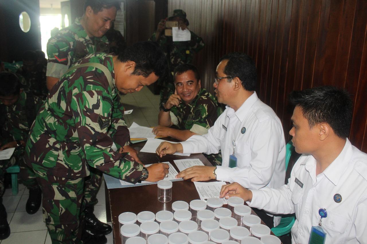 Anggota TNI Kodim 0612 Di Tes Urine, BNN Kota Tasik