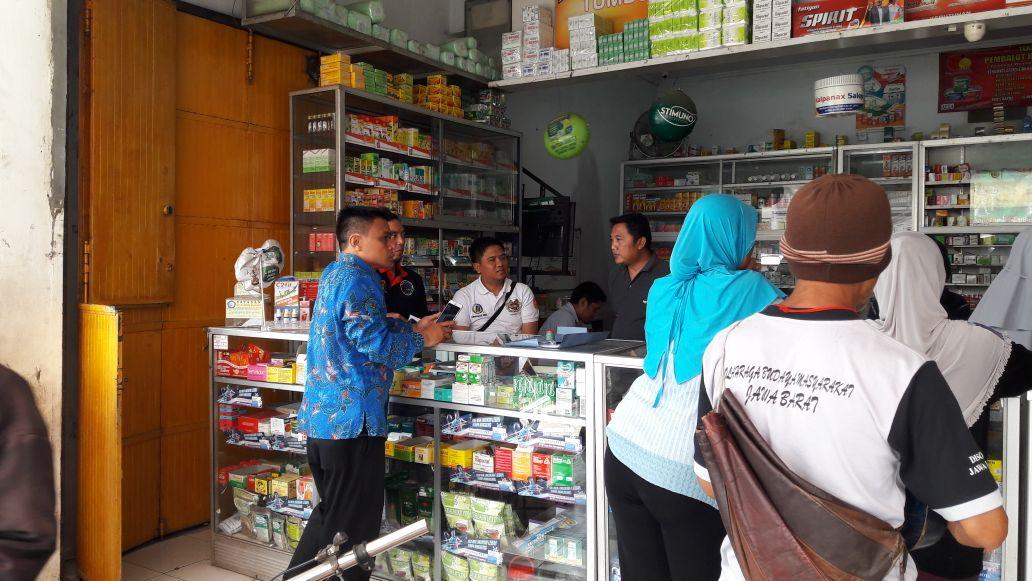 BNN Kota Tasik Lakukan Operasi Gabungan Razia Obat Ke Apotek