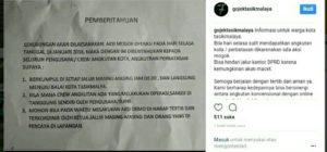 Capture Instagram Gojek Tasik
