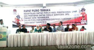 DPS Kota Tasik Untuk Pilgub Jabar 2018 Sebanyak 474.071 Pemilih