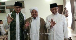 Sandiaga Uno Dampingi Cawagub Ahmad Syaikhu Kunjungi Ponpes Al-Idrisiyyah