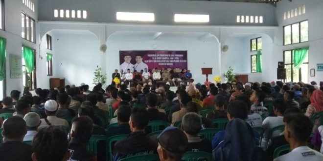 Ratusan Relawan Baregbeg Satukan Masyarakat Untuk Kemenangan Herdiat-Yana