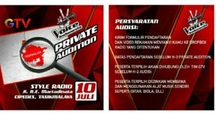 The Voice Indonesia GTV Adakan Private Audition Di Tasik