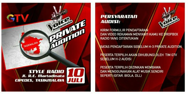 The Voice Indonesia GTV Adakan Private Audition Di Tasik
