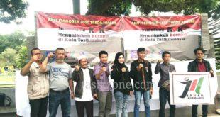 Aksi Stasioner 1000 Tandatangan, Dukung KPK Tuntaskan Dugaan Kasus Korupsi Di Tasik