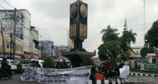 Pemindahan Tugu Adipura Diprotes, Aliansi Brigade Cinta Tasik Gelar Aksi