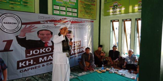 Barkowi Deklarasi Dukung Jokowi Dua Periode