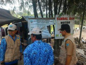 Kegiatan Monev Pelebaran Jalan Bungursari-Gn Goong yang dilakukan Wakil Walikota Tasikmalaya H. M. Yusuf