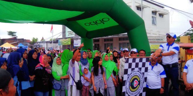 Jadi Pamungkas Perayaan Hari Jadi Kota Tasik, Ribuan Peserta Tumpah Di Gerak Jalan Kecamatan Cihideung