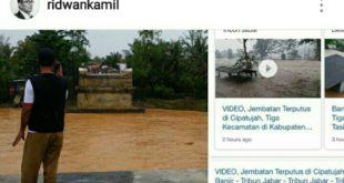 Ambruknya Jembatan Cipatujah-Ciandum, Gubernur Jabar Akan Kirim Jembatan Darurat