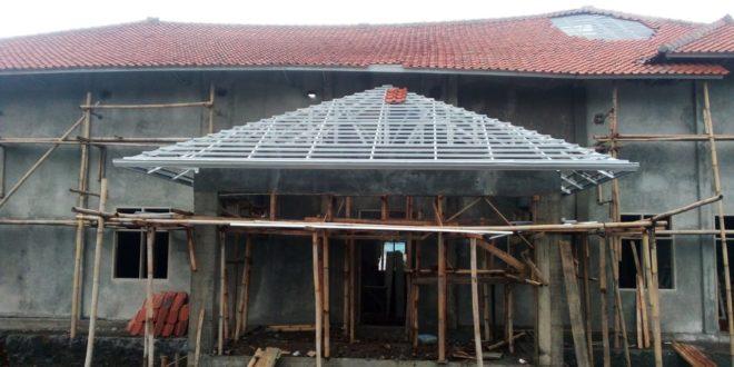 Belum Selesai Dibangun, Gedung PGRI Sariwangi Nyaris Ambruk