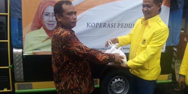 KSP Mustika Galunggung Memberikan bantuan Untuk Korban Bencana Di Cipatujah