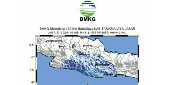 Gempabumi Tasik 4,8 SR dirasakan dibeberapa Wilayah termasuk Pangandaran