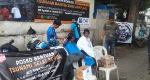 PPRTS Lakukan Penggalangan Dana Tsunami Banten Cukur Bayar Seikhlasnya
