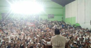 Puluhan Ribu Masyarakat Tasik Sambut Kedatangan Prabowo Subianto