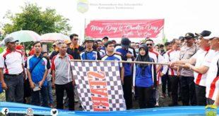 Hari Buruh Sedunia Di Kabupaten Tasik Diisi Dengan Gerak Jalan Sehat