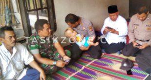 Polsek Gunung Tanjung Kunjungi Anak Penderita Hidrosefalus