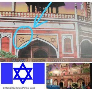 Ornamen Mirip Bendera Israel di Trans Studio Tasikmalaya