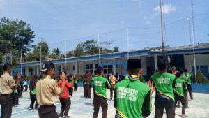 Latihan Rutin Setiap Hari Juma't yang dilakukan oleh anak-anak Pramuka Riyadul Hikmah saat dikunjungi tasikzone.com, juma't (20/9/2019)