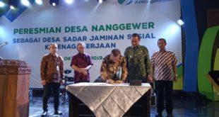 Desa Nanggewer Jadi Desa Sadar Jaminan Sosial Ketenagakerjaan Tingkat Nasional
