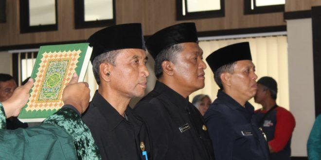 Jalaludin, Tedi Setiadi Dan dr Uus Dilantik Jadi Pimpinan Tinggi Pratama di pemkot tasik