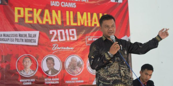 Ketua DPC IKADIN Tasikmalaya Jadi Narasumber Pekan Ilmiah Di Fakultas Syariah IAID Ciamis