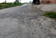 Kondisi Jalan Ngamplang di desa margalaksana kecamatan salawu, minggu (1/12/2019)