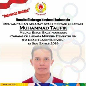 Muhammad Taufik Dapatkan Medali Emas Sea Game 2019