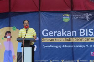 Komisi X DPR RI Ferdiansyah Launching Gerakan BISA di objek Wisata Cipanas Galunggung,senin (27/7/2020)