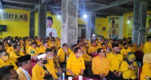 Isak Tangis Pengurus Partai Golkar Iringi Penundaan Musda Di Kabupaten Tasikmalaya
