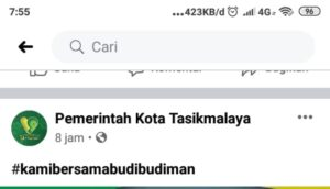 Akun Resmi Facebook Pemerintah Kota Tasikmalaya