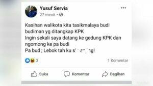 Postingan Facebook Yusuf Servia