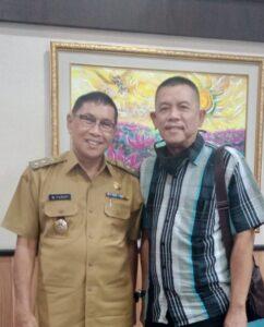 Inisiator Presidium 9 Asep Heru Bersama PLT Walikota Tasikmalaya H M. Yusuf
