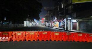 Penyekatan Jalan di Pusat Kota Tasikmalaya