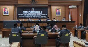 Rapat Paripurna Usulan Pemberhentian Walikota dan Wakil Walikota Tasikmalaya